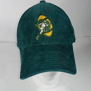 New Era Green Corduroy Suede Adj. Strap Cap